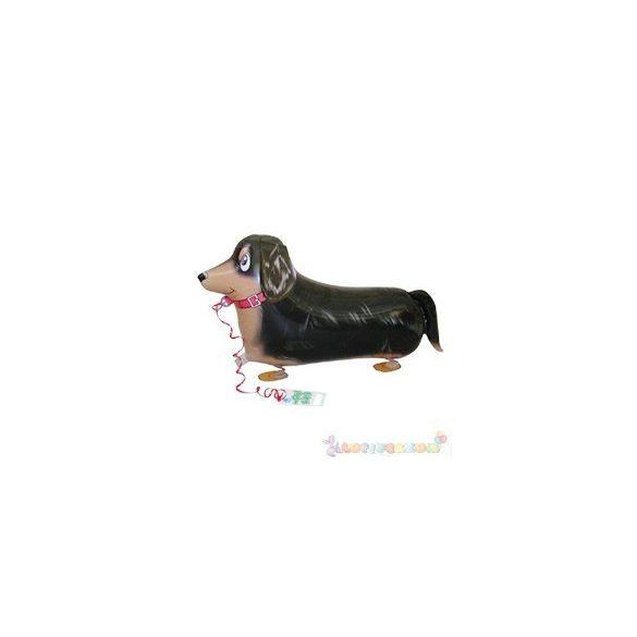 Sétáló tacskó fólia lufi - 50 cm