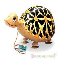 Sétáló teknős fólia lufi - 50 cm