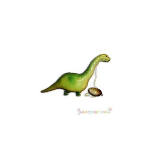 Sétáló brontoszaurusz fólia lufi - 50 cm