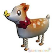 Sétáló Bambi fólia lufi - 50 cm