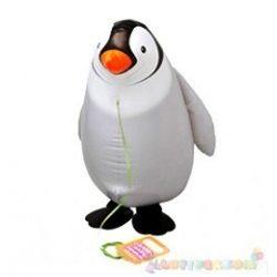 Sétáló pingvin fólia lufi - 50 cm
