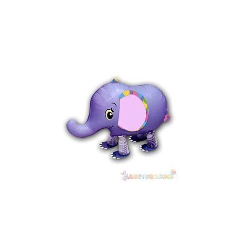 Sétáló elefánt fólia lufi - 50 cm