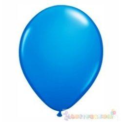 Kék - Sötét 28 cm-es latex Qualatex party lufi