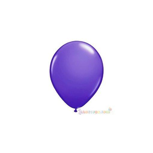 28 cm-es lila - sötét latex Qualatex party lufi