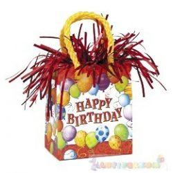 160 grammos lufisúly - Happy Birthday Születésnapi Mini Ajándéktasak - piros
