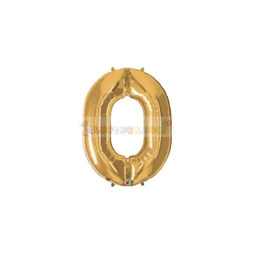 86 cm-es számos fólia lufi -  arany 0