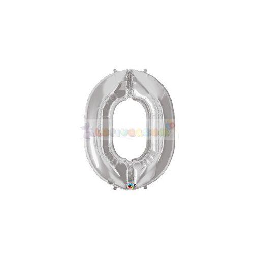 86 cm-es számos fólia lufi -  ezüst 0