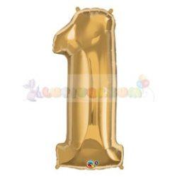 86 cm-es számos fólia lufi -  arany 1