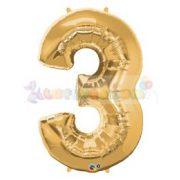 86 cm-es számos fólia lufi -  arany 3