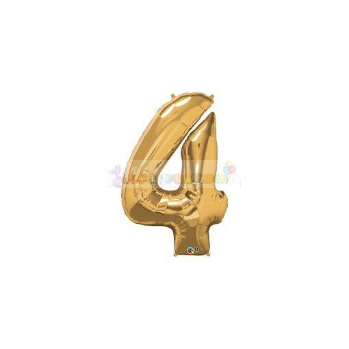 86 cm-es számos fólia lufi -  arany 4