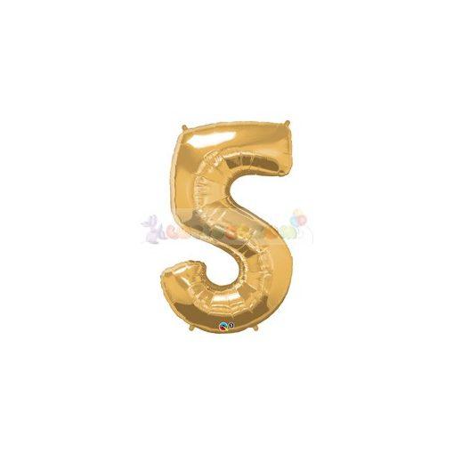 86 cm-es számos fólia lufi -  arany 5