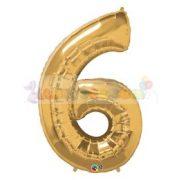 86 cm-es számos fólia lufi -  arany 6