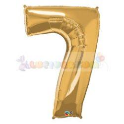 86 cm-es számos fólia lufi -  arany 7