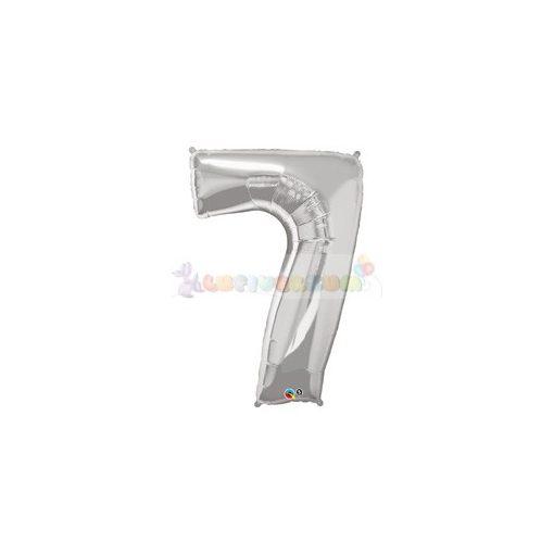 86 cm-es számos fólia lufi -  ezüst 7
