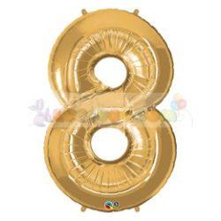86 cm-es számos fólia lufi -  arany 8