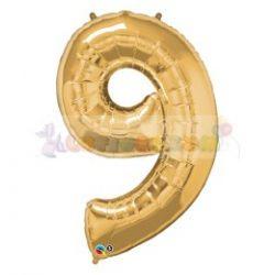 86 cm-es számos fólia lufi -  arany 9