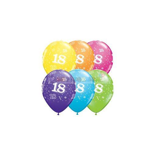 28 cm-es 18-as számmal printelt Születésnapi számos Léggömb Darabra