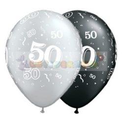 50-es számmal printelt Születésnapi számos léggömb - 28 cm - 1darab