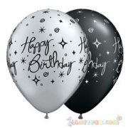 28 cm-es Birthday Elegant Sparkles Születésnapi Léggömb - 1darab