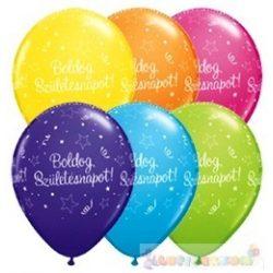 28 cm-es Boldog Születésnapot magyar feliratos Születésnapi Léggömb - 1darab