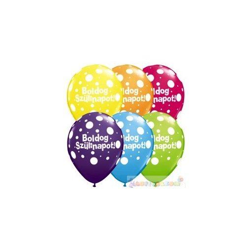 28 cm-es printelt Születésnapi Léggömb - 28 cm - 1darab