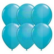 Kék - Türkizkék 28 cm-es latex Qualatex party lufi