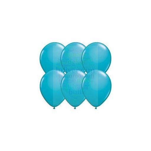 28 cm-es kék – türkizkék latex Qualatex party Lufi Darabra