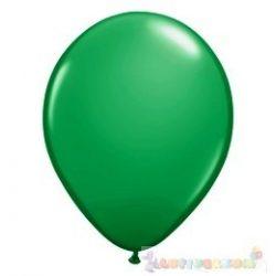 Zöld 28 cm-es latex Qualatex party lufi