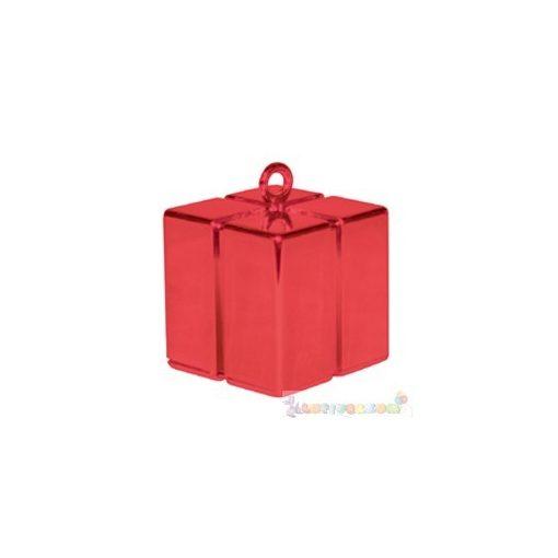 Piros ajándékdoboz léggömbsúly - 110 gramm