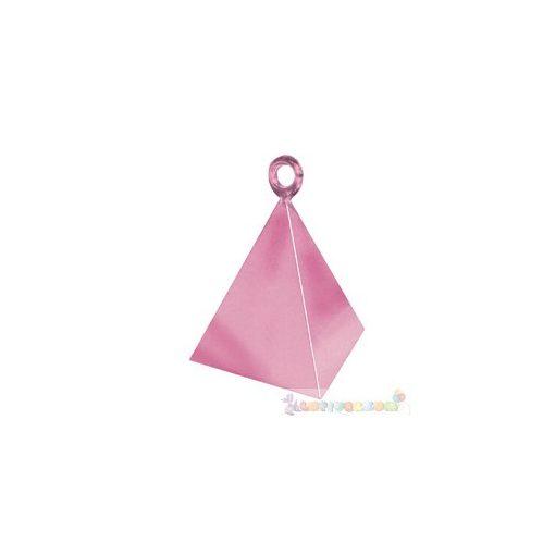 Gyöngyház rózsaszín piramis léggömbsúly - 110 gramm