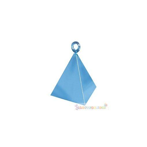 Gyöngyház világoskék piramis léggömbsúly - 110 gramm