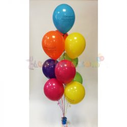 Héliumos léggömb csokor súlyra kötve - 10 db-os