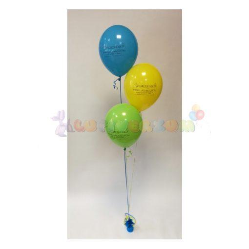 Héliumos léggömb csokor súlyra kötve - 3 db-os