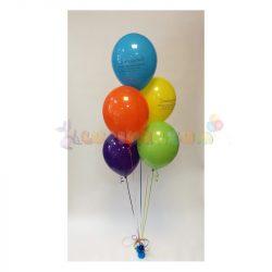 Héliumos léggömb csokor súlyra kötve - 5 db-os