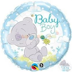Tiny Tatty Teddy Baby Boy Fólia Lufi Babaszületésre 45 cm