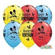 Mickey Mouse Születésnapléggömb - 28 cm