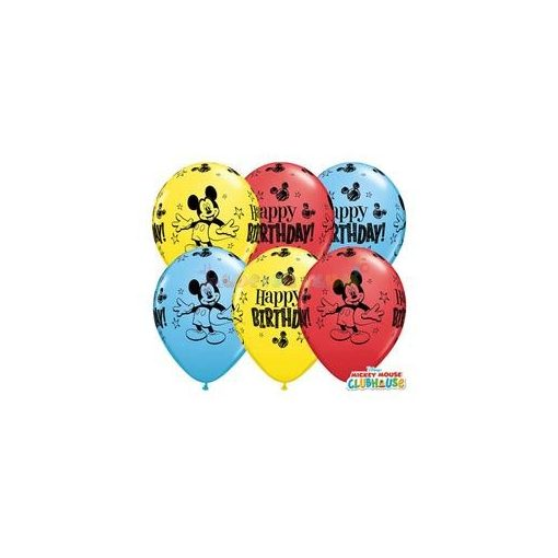 28 cm-es Mickey Mouse Születésnapi Lufi Darabra