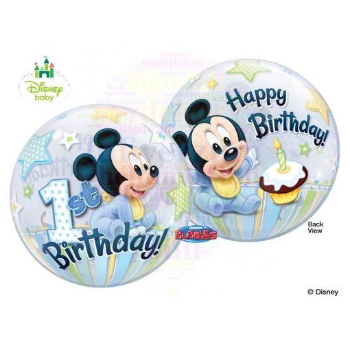 Disney Bubbles Mickey Mouse Első Szülinapi Lufi