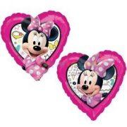 Minnie Mouse szív fólia lufi 45 cm-es