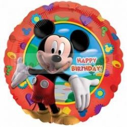Mikiegér - Happy Birthday Mickey's Clubhouse - Fólia Lufi 45 cm