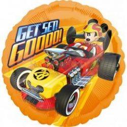 Mikiegér - Mickey Mouse Roadster Get Set Go Fólia Lufi