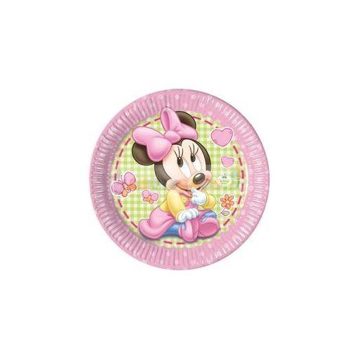 Minnie Baby Parti Tányér - 8 db-os, 23 cm