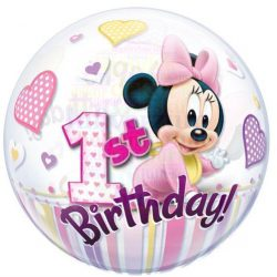 Disney Bubbles Minnie Mouse Első Szülinapi Lufi
