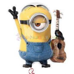 Minion gitáros fólia léggömb