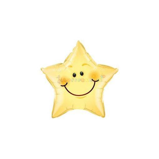 Mosolygó Csillag Fólia Lufi