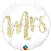 Mrs. Feliratú Glitter Gold Fólia Lufi