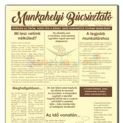 Munkahelyi búcsúztató újság