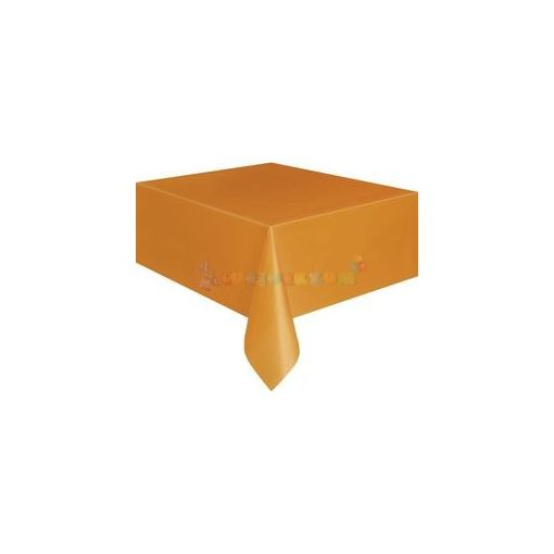 Narancssárga Műanyag Party Asztalterítő - 137 cm x 274 cm