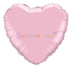 Gyöngyház Rózsaszín - Szív Fólia Léggömb