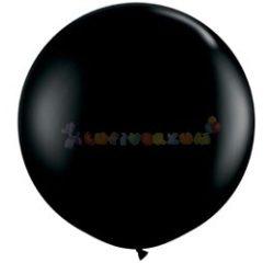 91 cm-es latex Qualatex party léggömb - fekete